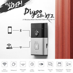 Image is loading Digoo-Smart-DoorBell-WiFi-Video-Camera-Phone-Door-  sc 1 st  eBay & Digoo Smart DoorBell WiFi Video Camera Phone Door Intercom IR Night ...