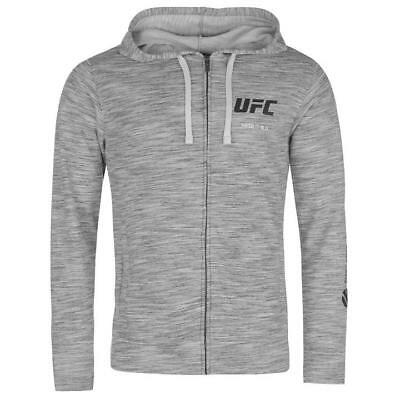 Reebok UFC Full Zip Grey Marl Mens Official Hoody NEW Size/'s M,L,XL,