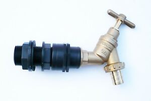 1-034-Tank-Water-Butt-IBC-Adapter-to-3-4-034-brass-bib-tap-and-3-4-034-hose-tail