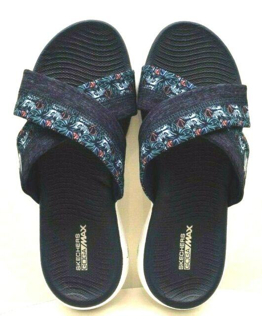 SKECHERS ON the GO Sandals GOGA MAX BLACK STRAP SANDALS WOMENS SZ 10 EXCELLENT! | eBay