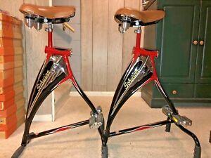 NEW Pair Vintage Schwinn Phantom Bicycle Bar Stools - Extremely Rare!
