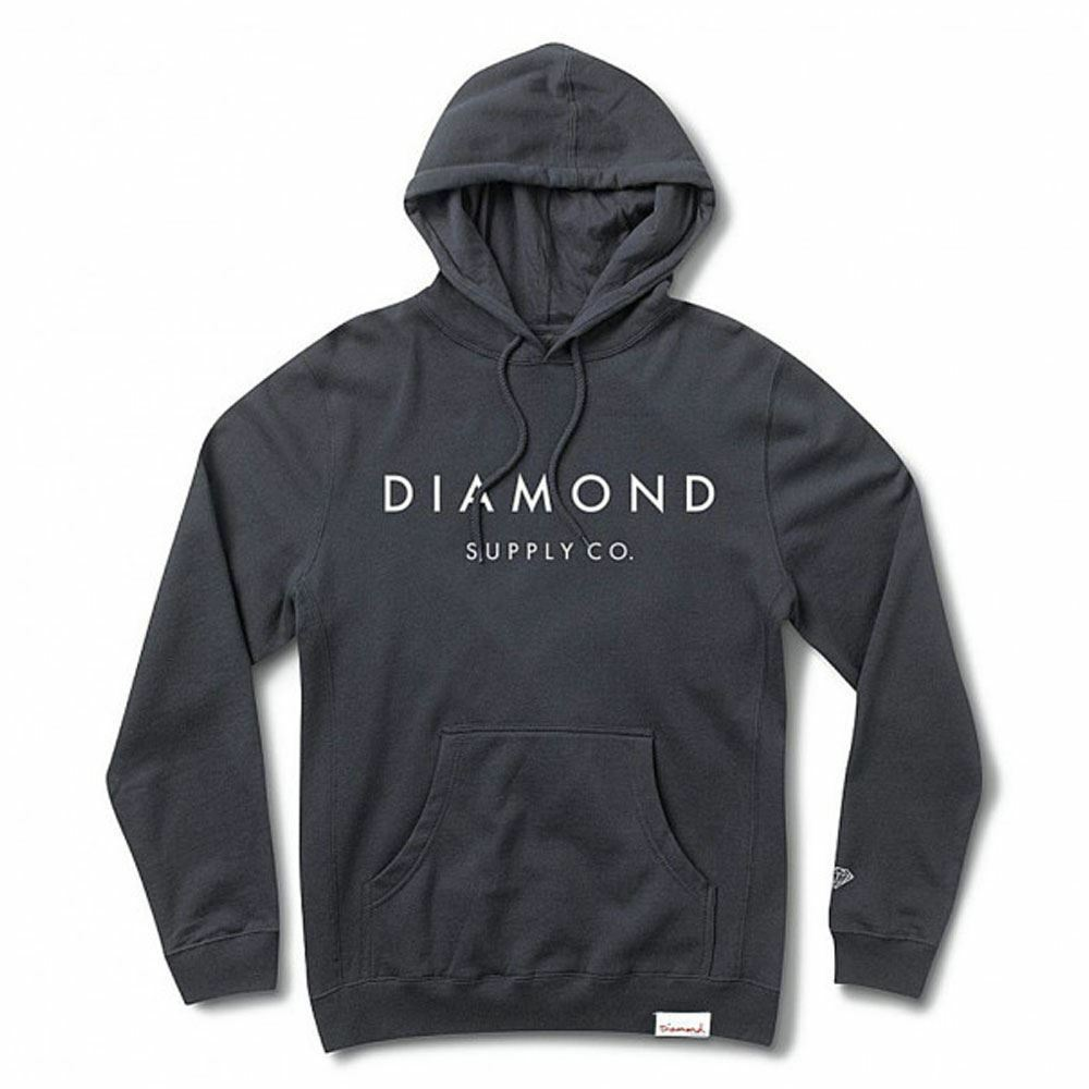 Diamond Supply Co Stone Cut Pullover Hoodie Blau