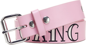 4361 Girl Gang Baby Pink GENUINE 100/% LEATHER Belt Sourpuss Punk Feminist SM