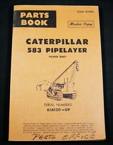 cat caterpillar 583 pipelayer power shift parts manual book catalog rh ebay com