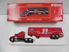 Racing Champions NASCAR Limited Edition Coin Bank With Lock Diecast Team Trans