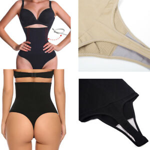 Body-Shaper-Sexy-Thong-G-String-High-Waist-Tummy-Control-Invisible-Shapewear