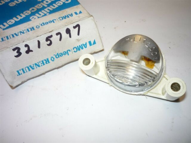 1972 Javelin, 71-75 Hornet 71-73 Gremlin License lamp nos 3215797