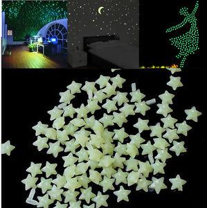 200pcs-Glow-In-The-Dark-3D-Stars-Moon-Stickers-Bedroom-Home-Wall-Room-Decor-DIY