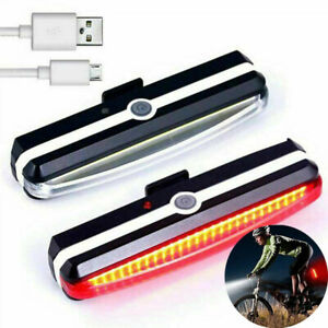 LED Mountain Bike Bicycle Front /& Rear Lights Set USB Rechargeable Waterproof