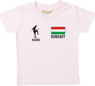 Kinder T-Shirt Fussballshirt Romania Rumänien mit Ihrem Wunschnamen bedruckt,