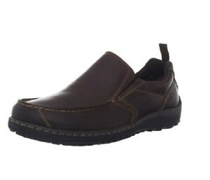 Hush-Puppies-Men-039-s-Belfast-MT-Slip-On-Loafer-H103355-BROWN-Choose-Size-NIB