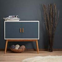 Retro Style Wooden Storage Sideboard Cabinet Living Room Furniture, With 2 Doors