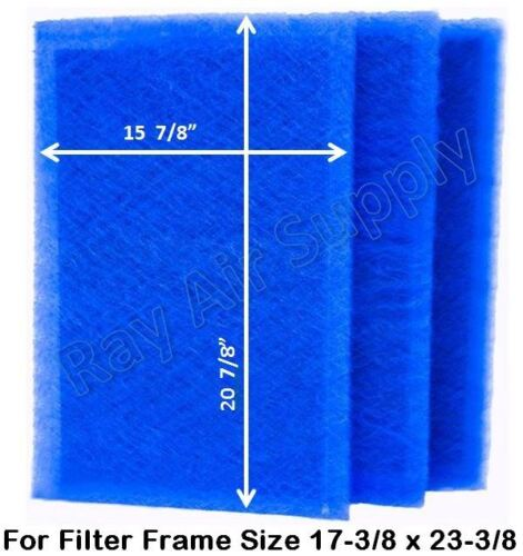 3 Pack ALL SIZES RayAir Supply MicroPower Guard Replacement Filter Pads Blue