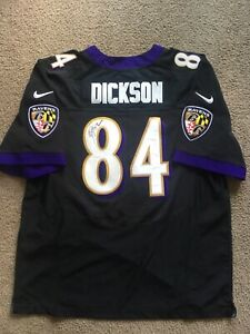 Details about Ed Dickson Signed Baltimore Ravens Nike On Field Jersey Size 52 Autographed
