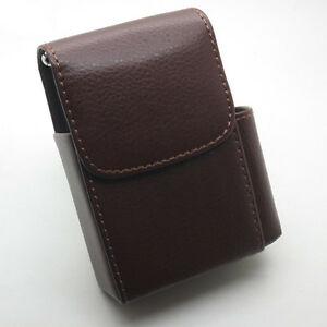 1*Pu Leather Cigarette Case Tobacco Pouch Box Lighter Holder Storage Container by Ebay Seller