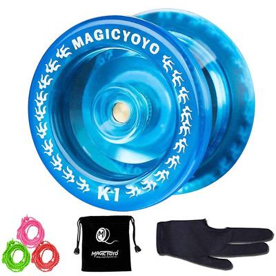5 Strings Premium Quality Metal Yoyo For Advanced Great Gift for Kids with Professional Yoyo Glove Glove CHEE MONG Magic Yoyo Professional Unresponsive Yo-yo Y01 NODE