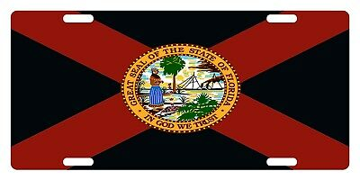 ALABAMA State Flag Custom License Plate State Emblem Version 2
