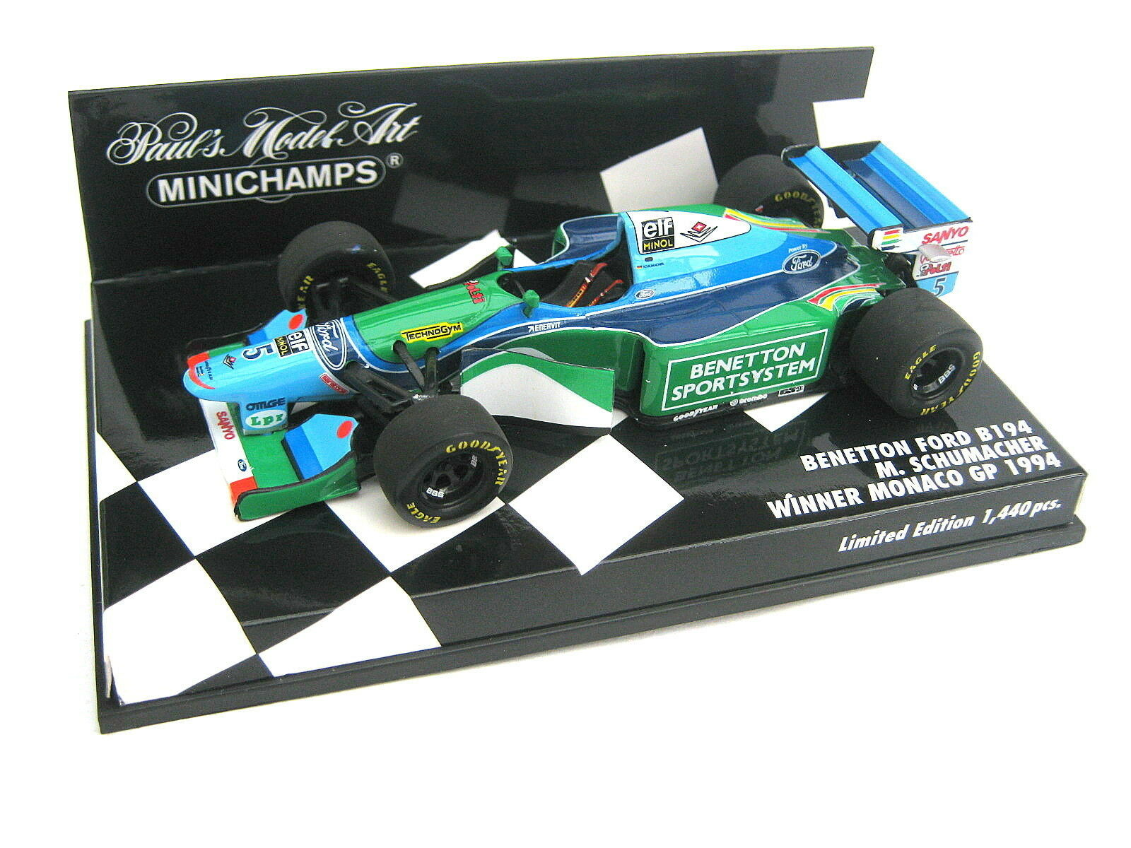Benetton b194 Schumacher Winner Monaco GP 1994 PMA 400940005 Ltd 1.440 1 43 new