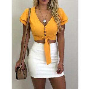 Women-tank-top-sleeveless-shirt-crop-top-summer-Sexy-cami-top-vest-casual-blouse