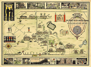 Historical-Map-of-Connecticut-College-for-Women-Decorative-Wall-Poster-Vintage