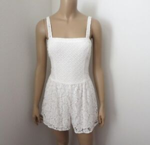 df8d5a457d0 Image is loading NWT-Abercrombie-Womens-Lace-Romper-Size-Small-White