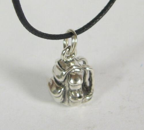 Backpack Charm Pendant Necklace .925 Sterling Silver USA Made Knapsack Hiking