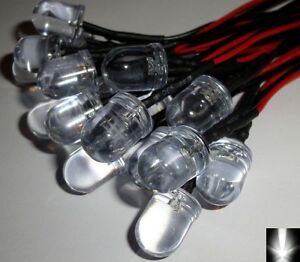 10-x-10mm-Ultra-Bright-White-Pre-Wired-Constant-12v-LEDs