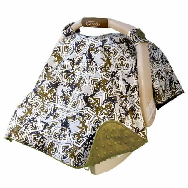 Carseat Canopy Baby Infant Car Seat Cover Hawkslee W Attachment Straps Mink