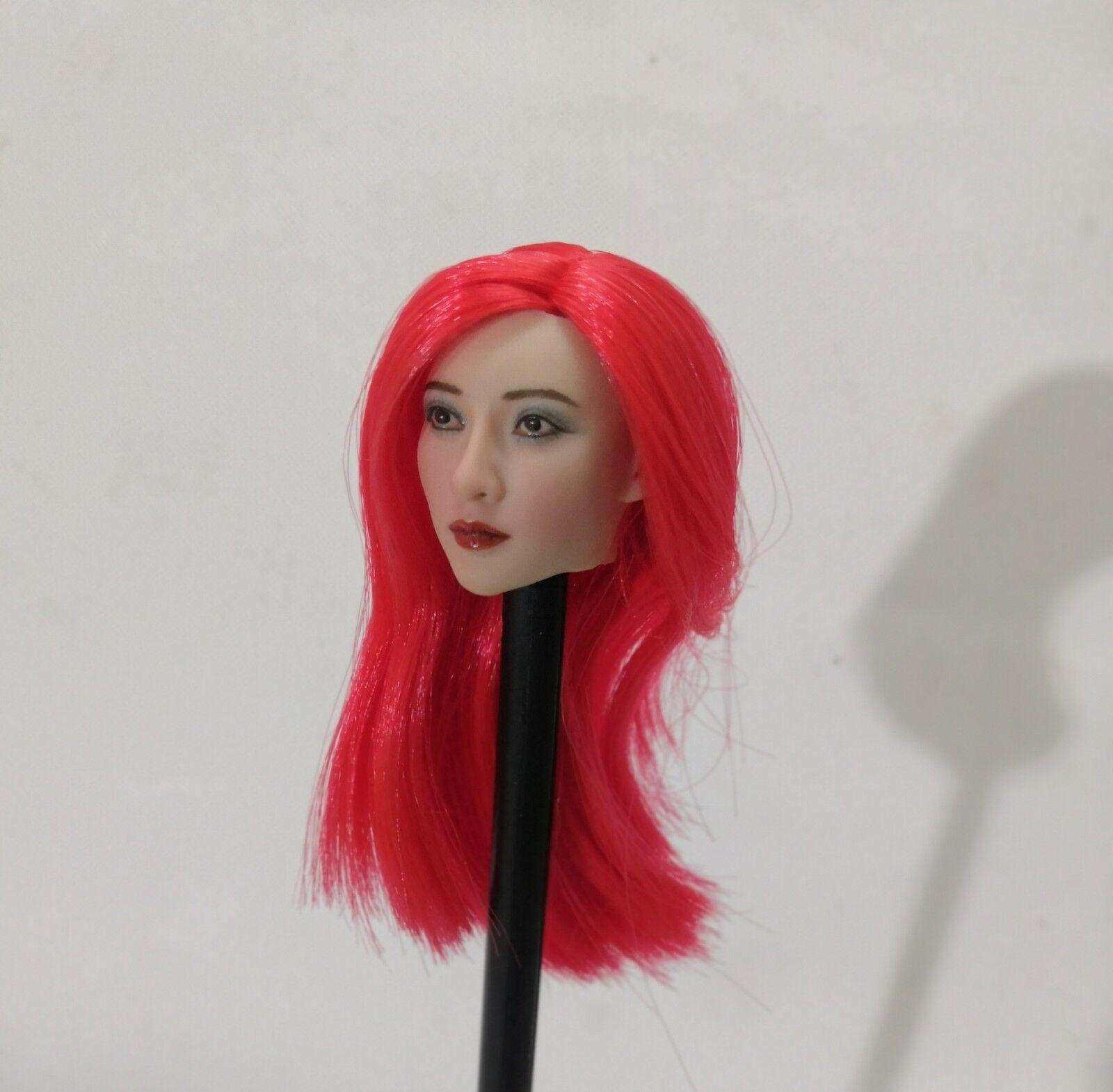 1   6 - skala schönheit rote haare asiatische mädchen kopf carving - fit  action - figur.