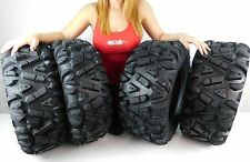 "4 New 26x9-12 26x11-12 KT MASSFX big TIRE SET FOUR ATV TIRES 6 PLY 26"" horn"