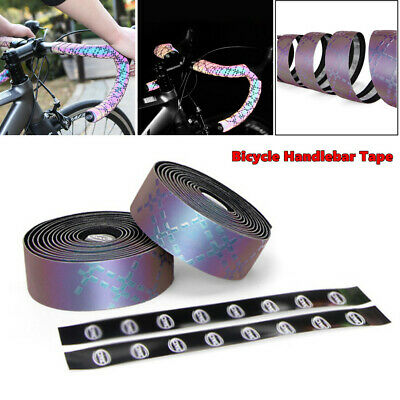 2×Soft Bike Bicycle Cycling Handlebar Grip Tape Wraps Adhesive Back w//Bar Plugs