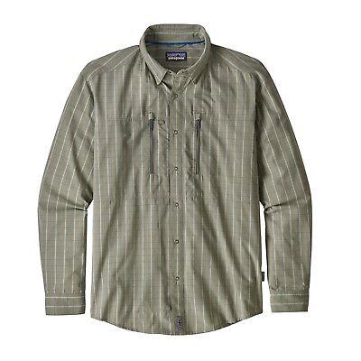 Dinamico Patagonia Men's Congo Town Pucker Long Sleeve Shirt-camicia-kibd Sage-m- Con Metodi Tradizionali