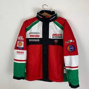 Men's Ducati 1098 Racing Pit Crew Sponsor Nylon Jacket Red Motorcycle Size M