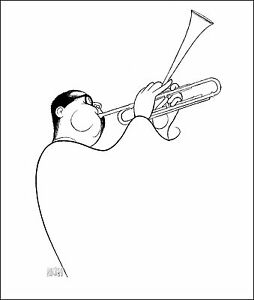 Al-Hirschfeld-039-s-DIZZY-GILLESPIE-Hand-Signed-Limited-Edition-Lithograph