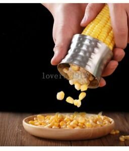 Corn Peeler Stripper Corn on the Cob Remover Stainless Steel Cutter Shaver Corns