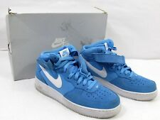 Nike Air Force 1 Mid Mens 315123-409 University Blue White Shoes Size 9.5 c03da29b9c19