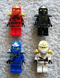 LEGO-Ninjago-Rare-Minifigs-ZX-w-Armor-Cole-ZX-Jay-ZX-Kai-ZX-amp-Zane-ZX
