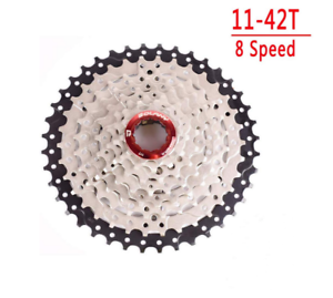 Bolany-Silver-MTB-mountain-bike-Wide-Ratio-8-speed-cassette-11-42T-freewheel