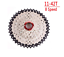 Bolany-Silver-MTB-mountain-bike-Wide-Ratio-8-speed-cassette-11-42T-freewheel thumbnail 1