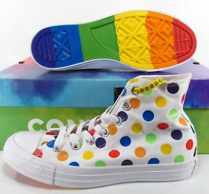 046528fd4fc281 Image is loading Converse-Pride-by-Miley-Cyrus-Rainbow-Polka-Dot-