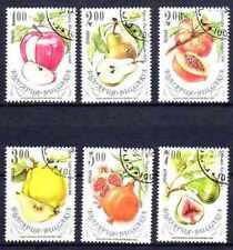 Flore - Fruits Bulgarie (14) série complète de 6 timbres oblitérés