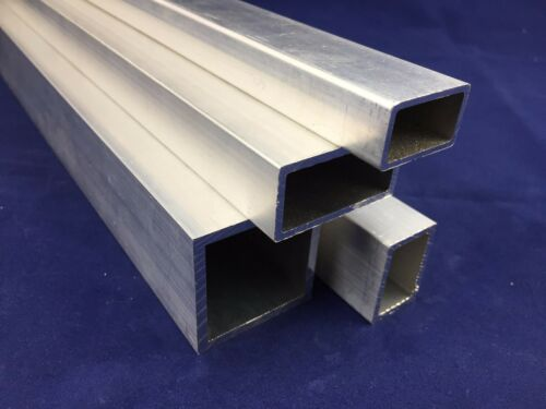 ALUMINIUM Square Tube// Rectangular Section NEXT DAY DELIVERY
