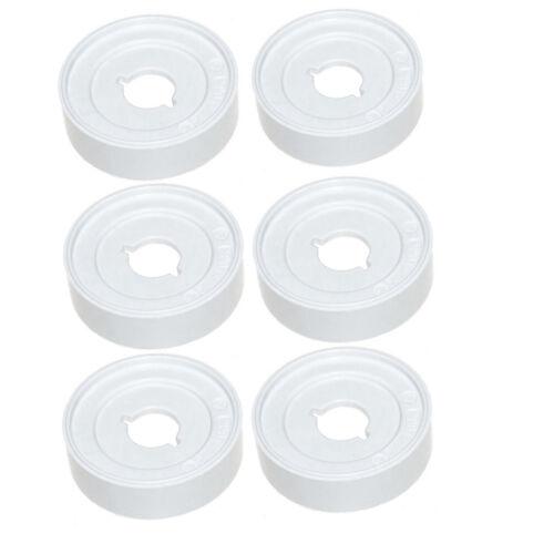 pacco da 6 DISCO ORIGINALE INDESIT manopola di controllo per forno fornello-Bianco C00285706