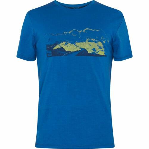 McKinley Uomo per il tempo libero-Outdoor-escursioni a piedi-T-shirt toggo BLU