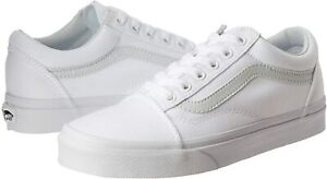 Vans Mens Old Skool Low Top Lace Up Fashion Sneakers, True White, Size 8.5 x3f0