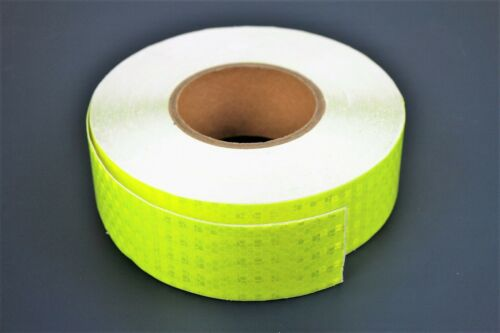 GREEN NEON 2m x 5cm High Intensity Reflective Tape Self-Adhesive Vinyl Lorry