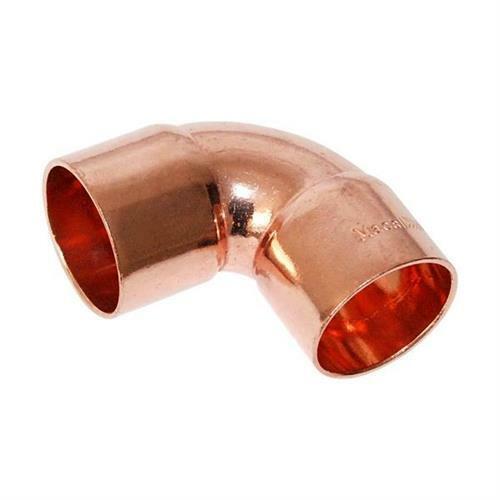 """2 Pack of W02047 // C235-0150 1-1//8/"""" HVAC Copper Short Radius 90"""