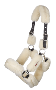 LeMieux M+ Fully Lined Headcollar - Natural