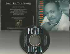 PEABO BRYSON Lost in the Night w/ RARE REMIX 1991 USA PROMO Radio DJ CD Single