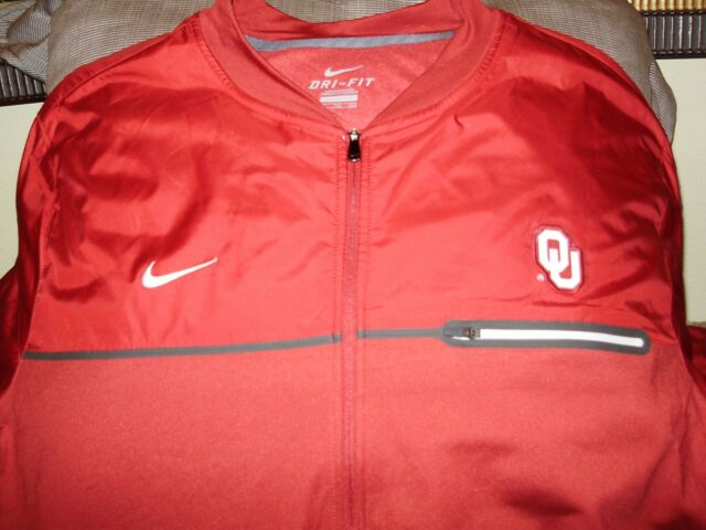 5df62b69da5d Frequently bought together. Oklahoma Sooners Nike Dri-Fit Elite Hybrid Full  Zip Red Golf Jacket Men s Large